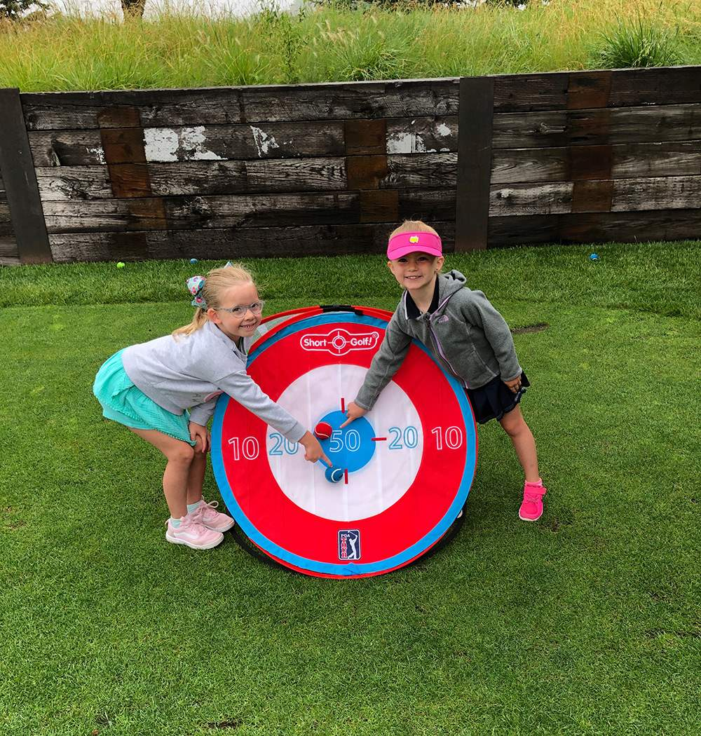 Junior-Golf-Target-with-two-girls